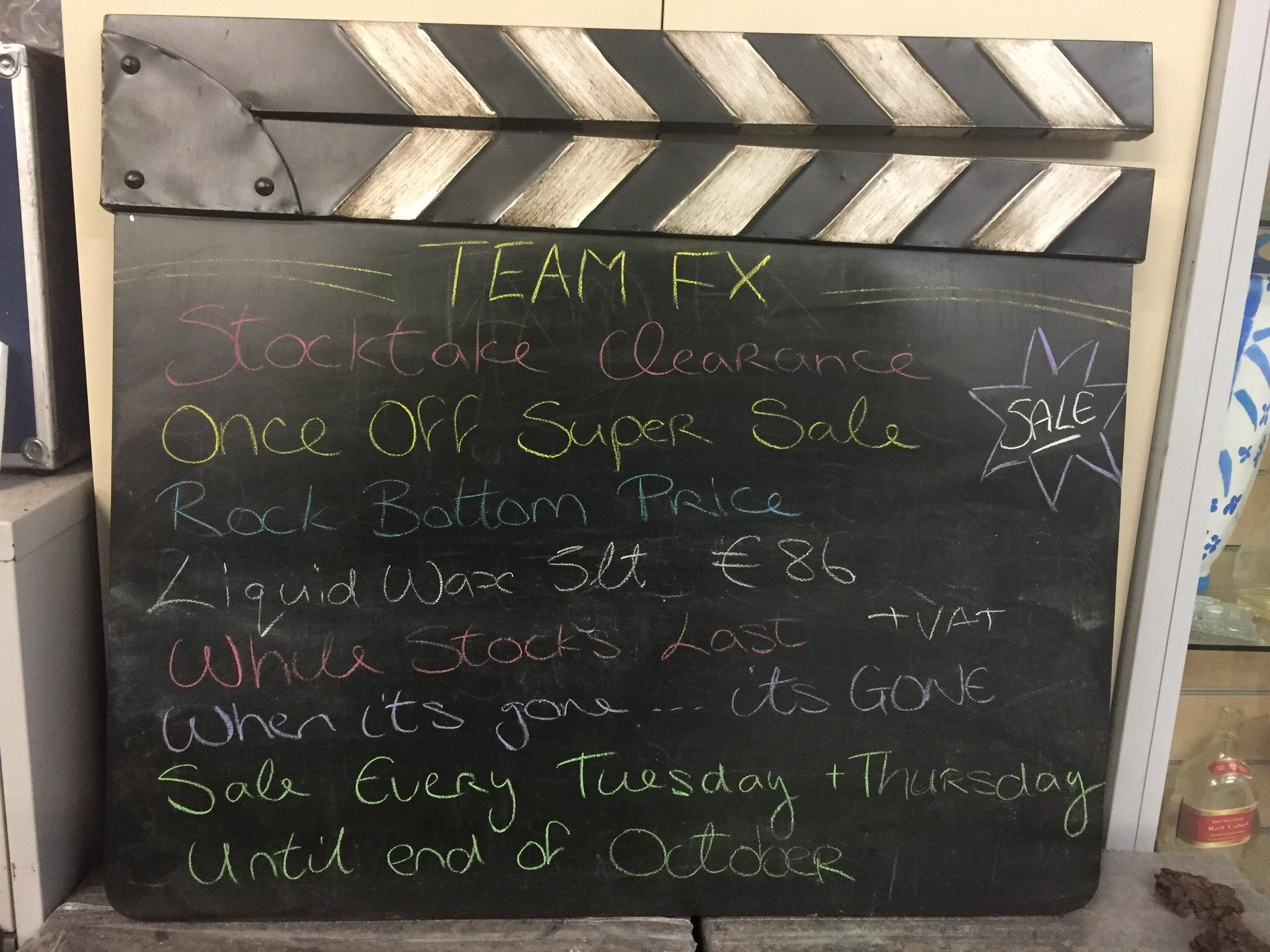 Team FX Stocktake Clearance Once Off Super Sale 5lt Liquid
